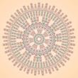 original round pattern