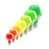Energy efficiency levels as bulbs