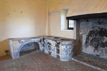 Interior Castle of Torrechiara. Emilia-Romagna. Italy.