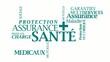 Protection Santé assurance maladie nuage de tag texte vidéo