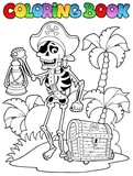 Coloring book with pirate topic 8