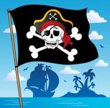 Fototapety Pirate banner theme 2