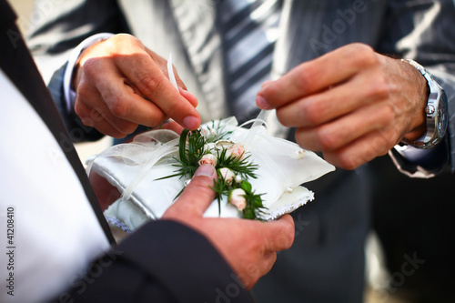 Preparation to exchange of wedding rings