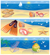 Beach vacation banners