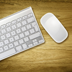 overhead keyboard and mouse