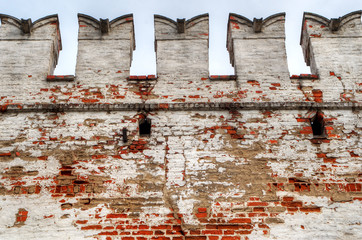 The wall of Novodevichy convent in Moscow