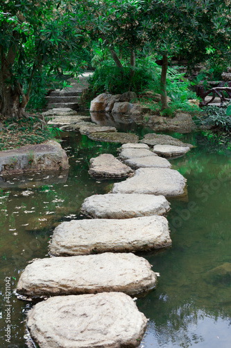 Rock garden in the park of Thailand