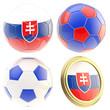 Slovakia football team attributes isolated