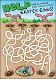 A fun easter puzzle for children. Find the candy eggs!
