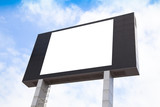 Blank multimedia billboard with space for advertisement
