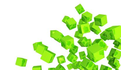 Banner - Fliegende Würfel Grün 5