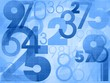 random numbers modern blue background