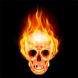 Scary skull on fire