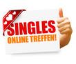 Singles online treffen! Button, Icon