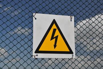The sign warning of danger.