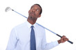 Man with golf club