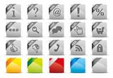 Button Set grau - Info Hilfe Mail Sale Login Suche Shop RSS SSL