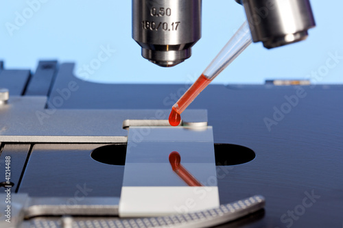 Microscope and blood sample
