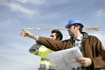 Foreman and worker on a site