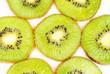 kiwi fruit sliced on a white background