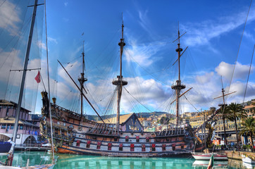 historical galleon (hdr)