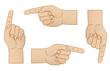 Zeigende Hände, farbig
