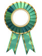 Ribbon Award isolated on white background