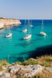 Sailing boats in the bay of Cala Magraner, Majorca