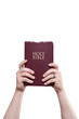 Married Man Holding Bible High