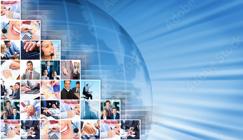 Business people collage background.