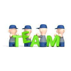 """Teamwork - Menschen mit Buchstaben """"TEAM"""""""