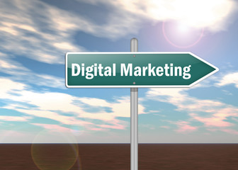 "Signpost ""Digital Marketing"""