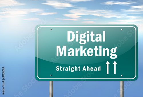 "Highway Signpost ""Digital Marketing"""