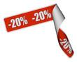 Band Sticker rot rore -20 PROZENT