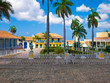 Main square in the colonial town of Trinidad in Cuba