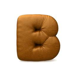 brown leather letter b