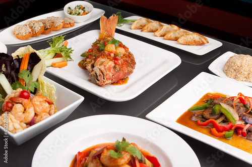 Assorted Spicy Thai Foods