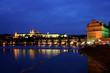 Prag, Karlsbrücke und Prager Burg Hradschin bei Na