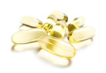 pills of Omega-3 supplement