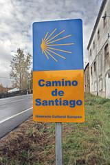 Señalización de camino de Santiago, Puerto de Béjar, Salamanca