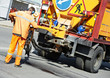 Asphalt patching roadworks