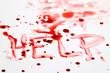 Messer mit Blut. Kriminalität. Tatwaffe eines Mord