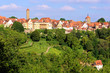 View of the medieval town of Rothenburg, Germany