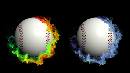 Two Baseball Ball in Particle, with Alpha Channel - HD1080