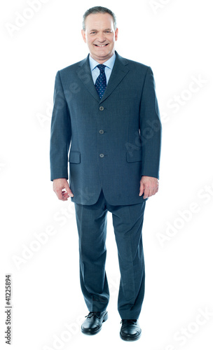 Full length view of senior corporate male