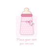 baby shower - nascita bambina - biberon rosa