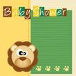 baby shower - lieto evento - leoncino con impronte