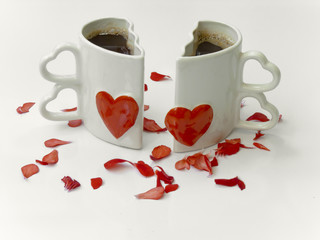 Love cups of coffee