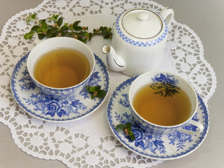 Two cups of delicious tea