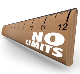 No Limits Words on Ruler Unlimited Potential